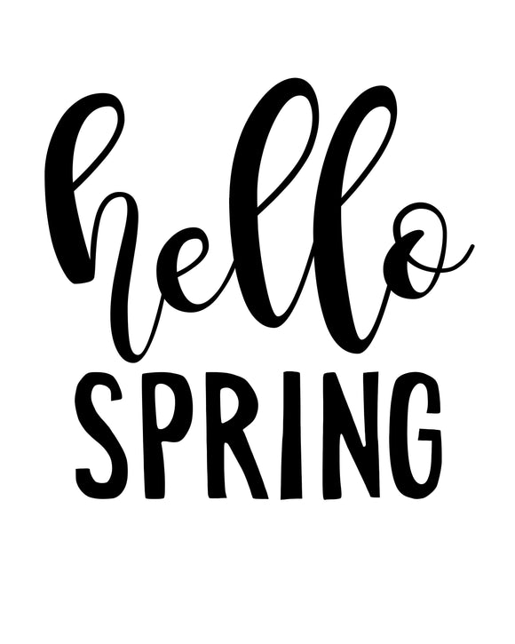 Hello Spring - SVG, PNG, DXF