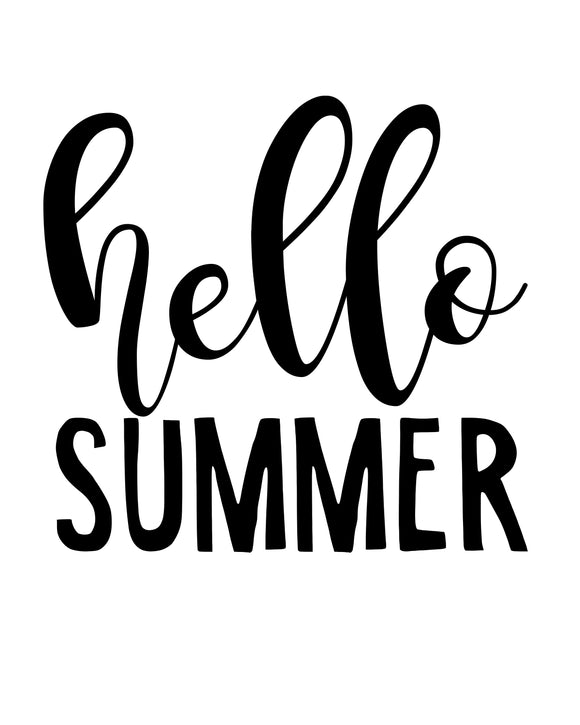 Hello Summer - SVG, PNG, DXF