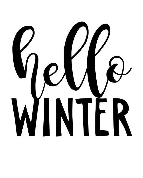 Hello Winter - SVG, PNG, DXF