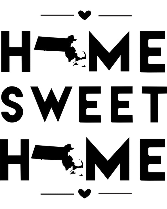 Massachusetts - Home Sweet Home - SVG, PNG, JPG