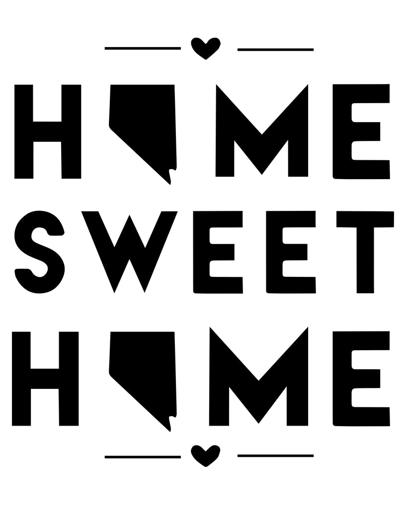 Nevada - Home Sweet Home - SVG, PNG, JPG