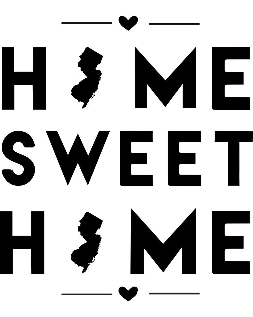 New Jersey - Home Sweet Home - SVG, PNG, JPG