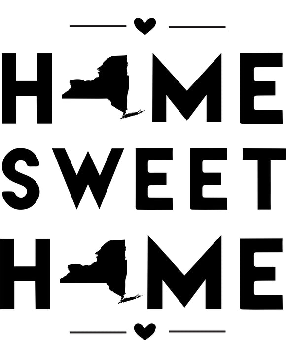 New York - Home Sweet Home - SVG, PNG, JPG