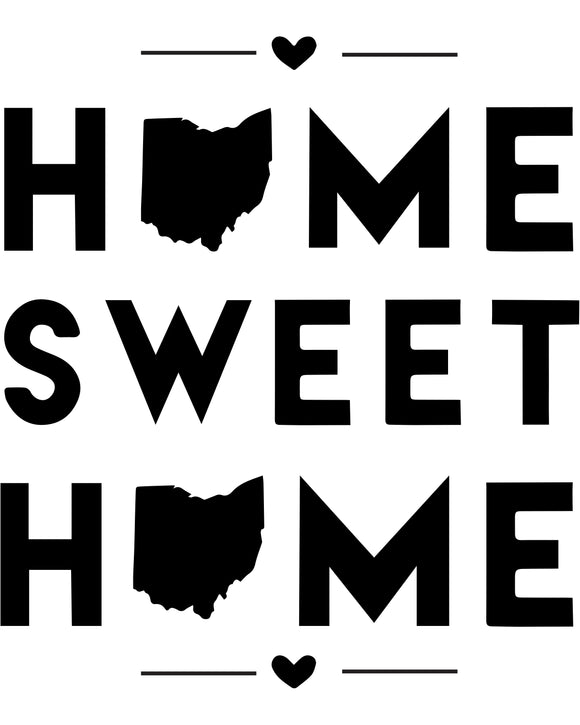 Ohio - Home Sweet Home - SVG, PNG, JPG