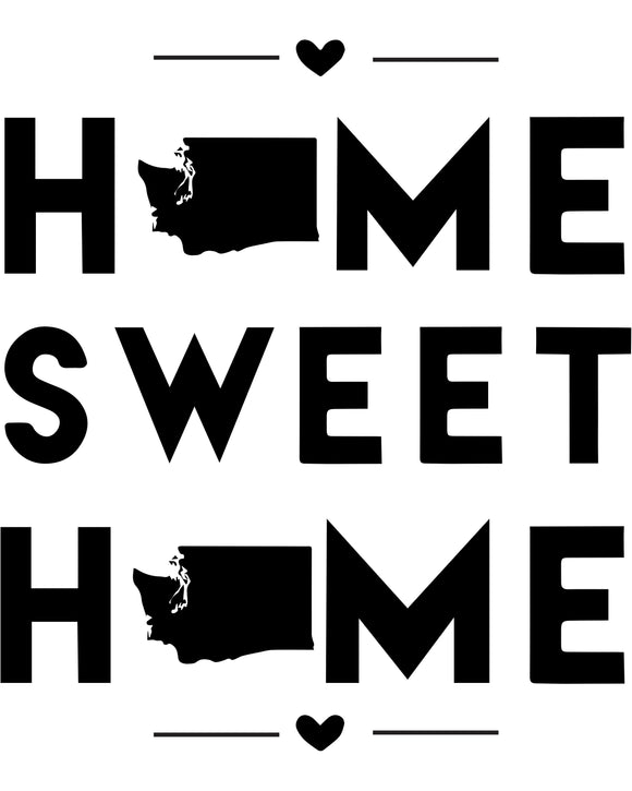 Washington - Home Sweet Home - SVG, PNG, JPG