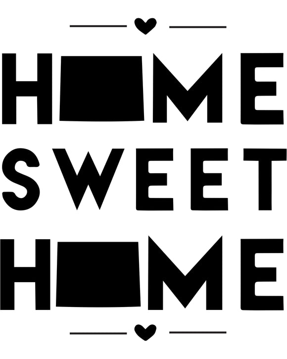 Wyoming - Home Sweet Home - SVG, PNG, JPG