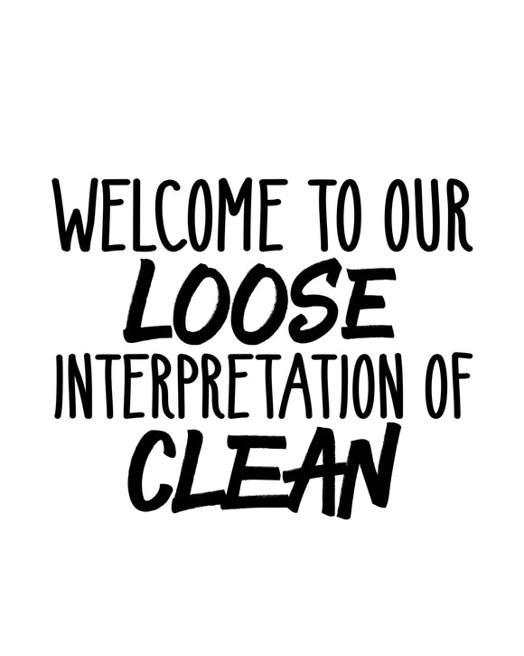 Welcome to our Loose Interpretation of Clean - SVG, PNG, DXF