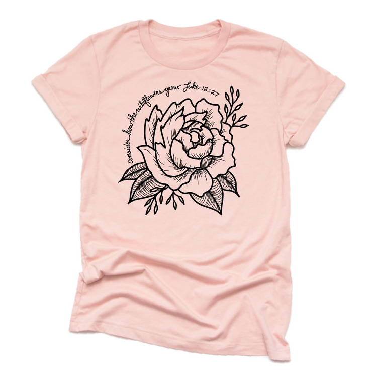 Consider How the Wildflowers Grow | Unisex Jersey Tee