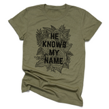 He Knows My Name | Unisex Jersey Tee