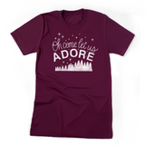Oh Come Let Us Adore | Unisex Jersey Tee
