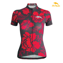 Load image into Gallery viewer, RED FLOWER JERSEY WOMEN'S