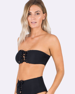 Indaia Americana Cleo Lace-Up Bandeau ID124/026, Top, [Shop_name]