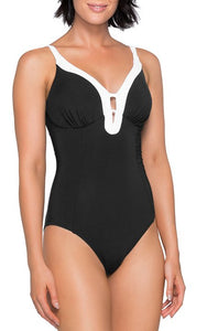 Jets Classique Black & White Plunge One Piece J10436E, One Piece, [Shop_name]
