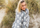 Knotty Turkish Towel - Skulls, Towel, [Shop_name]