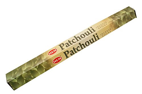 HEM Patchouli 20 Stick Hex Tube Incense