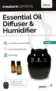 Greenair Essential Oil Diffuser Creature Comforts Black Cat