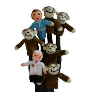 5 Little Monkeys Finger Puppet Set of 7