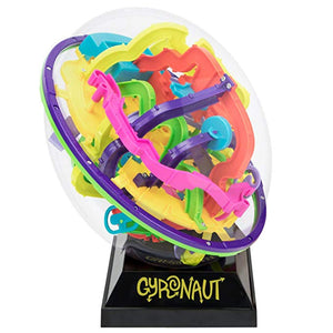 Gyronaut Omega Obstacle 3D Puzzle Ball with Display Stand - 299 Extra-Challenging Tangled & Twisted Interactive Maze Obstacles