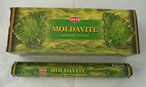 Moldavite HEM Hexagonal Incense 20 Stick