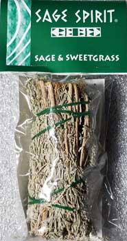 Sage & Sweetgrass smudge stick 5