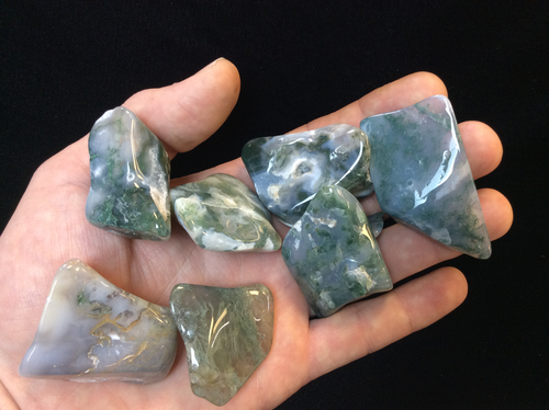 Green Moss Agate Tumbled