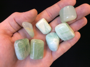 Green Calcite Tumbled