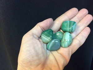 Green Banded Agate Tumbled