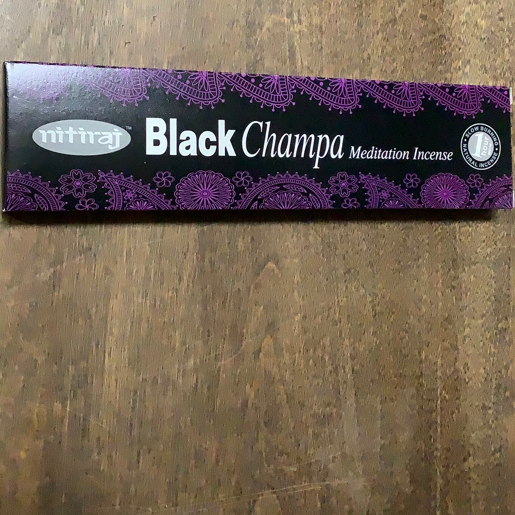 Nitiraj Black Champa Meditation Incense
