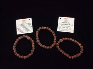 Korean Zen Cedar Prayer Beads Wrist Mala
