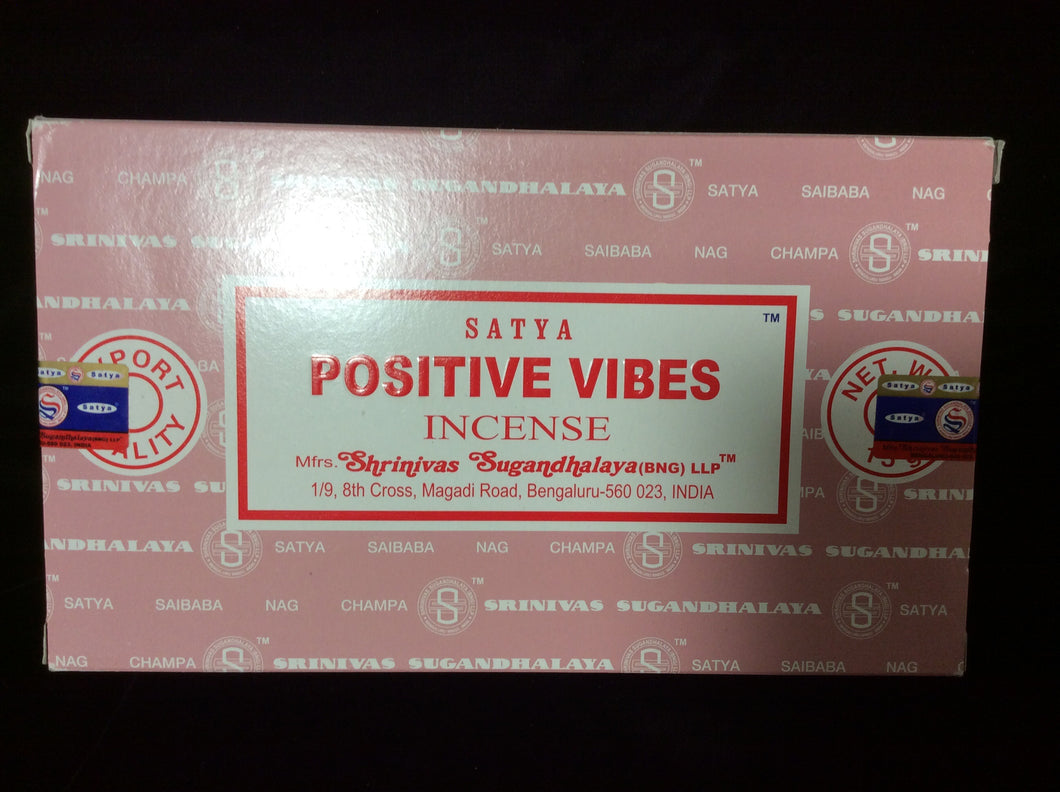 Satya Positive Vibes Incense Sticks
