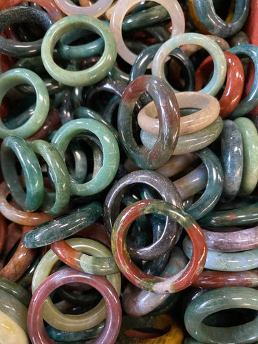 Agate Rings Multi-Colored