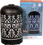 GreenAir Serene Living® Victorian Metal Oil Diffuser