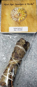 "Yerba Santa Sage smudge stick 4"" by New Age"