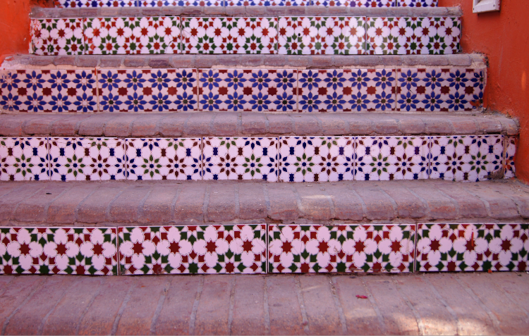 tiled-staircase