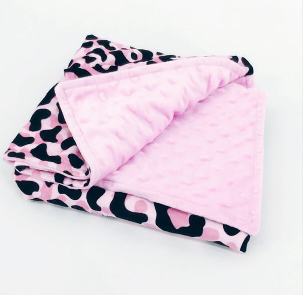 Cotton Snuggle Blanket - Pink Hunter