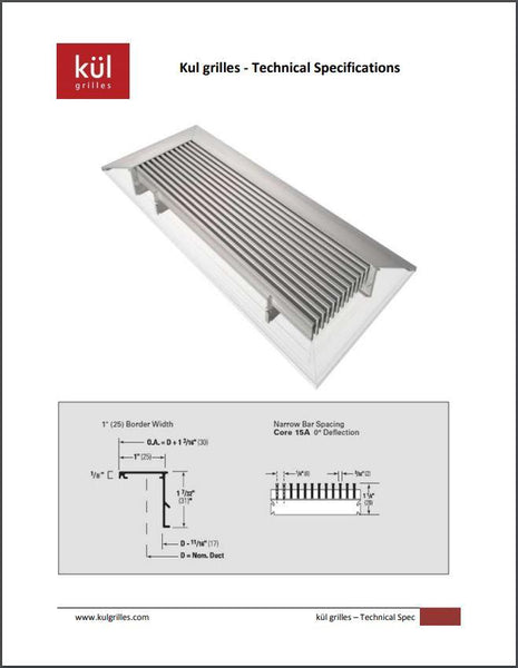 Vent Cover Technical Specifications Document