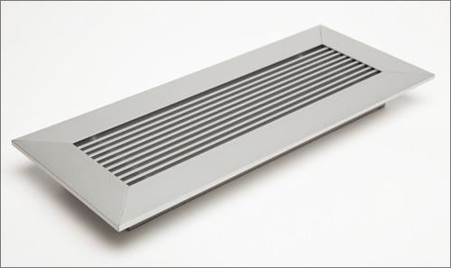 air vent cover anodized clear finish close up modern home by Sausalito Purhaus kulgrilles