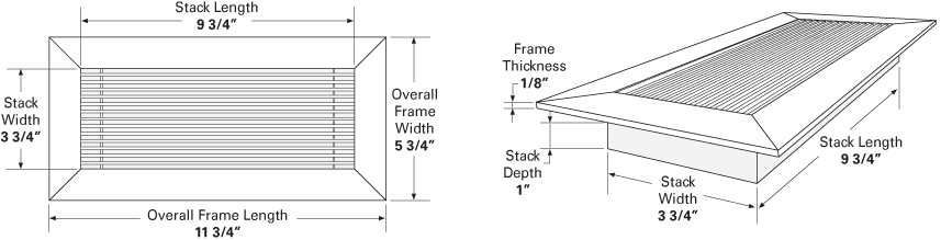 floor vent cover measurements illustration and dimensions