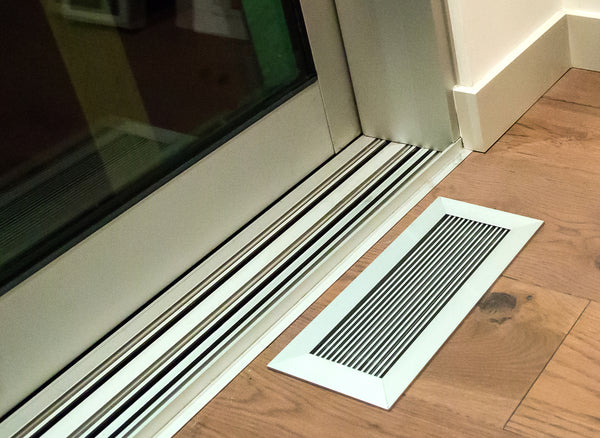 floor vent covers anodized clear finish on hardwood floor by anodized window casing-dwell on design method homes modern prefab show home by kulgrilles