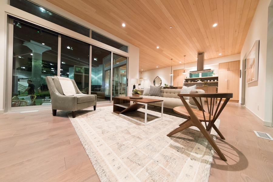 heater cover anodized clear finish on hardwood floor minimalist living room dwell on design method homes modern prefab home by kulgrilles