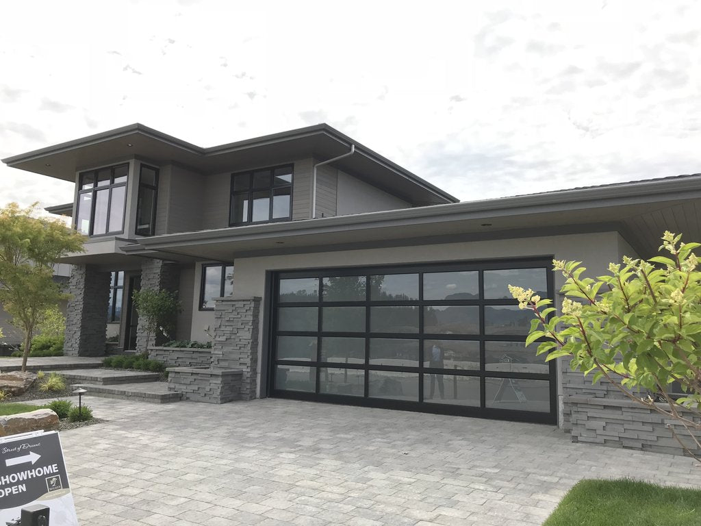 return air grille brushed chrome finish house front exterior wilden builders kelowna showhomes by kulgrilles