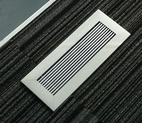 vent covers modern anodized clear finish close up on striped carpet 404 hosmer by kulgrilles