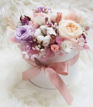 Everlasting Bloom Box- Pastel Pink - Happy Florals