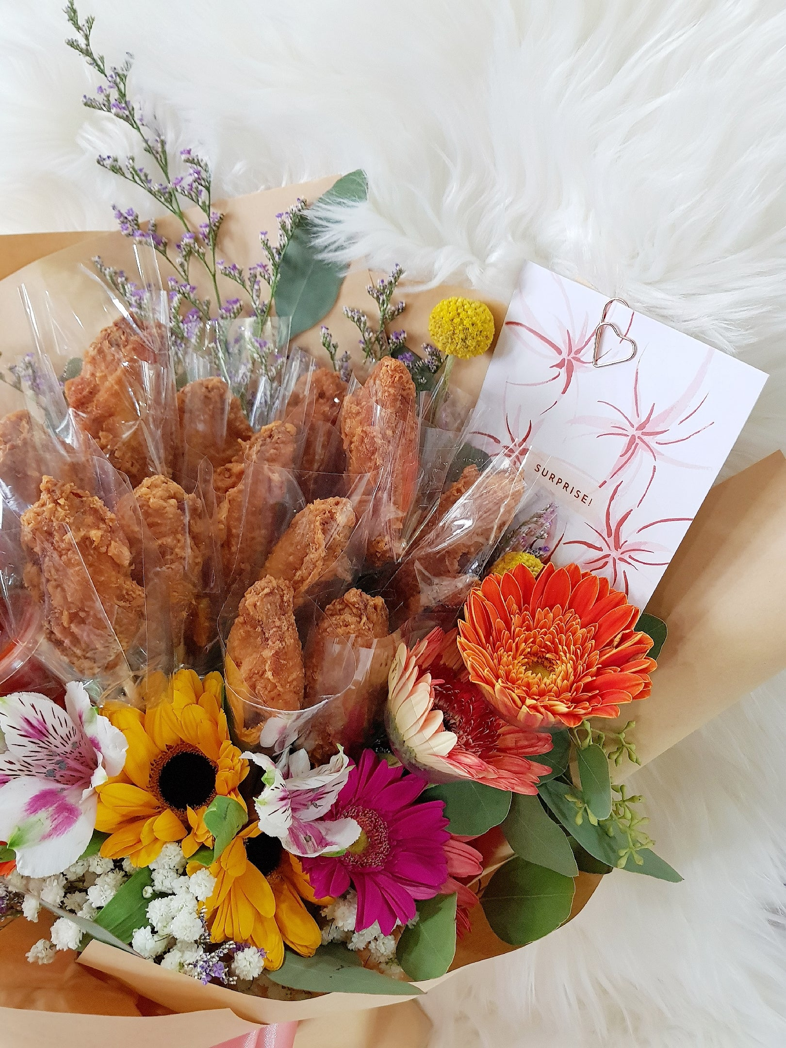 12 Pcs Shrimp Paste Chicken (Har Cheong Gai) Bouquet - Happy Florals