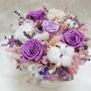 Everlasting Bloom Box- Royal Purple - Happy Florals