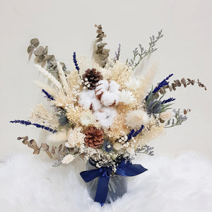 Everlasting Bloom Vase - Cream - Happy Florals