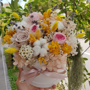 Everlasting Bloom Box- Sunshine Yellow - Happy Florals