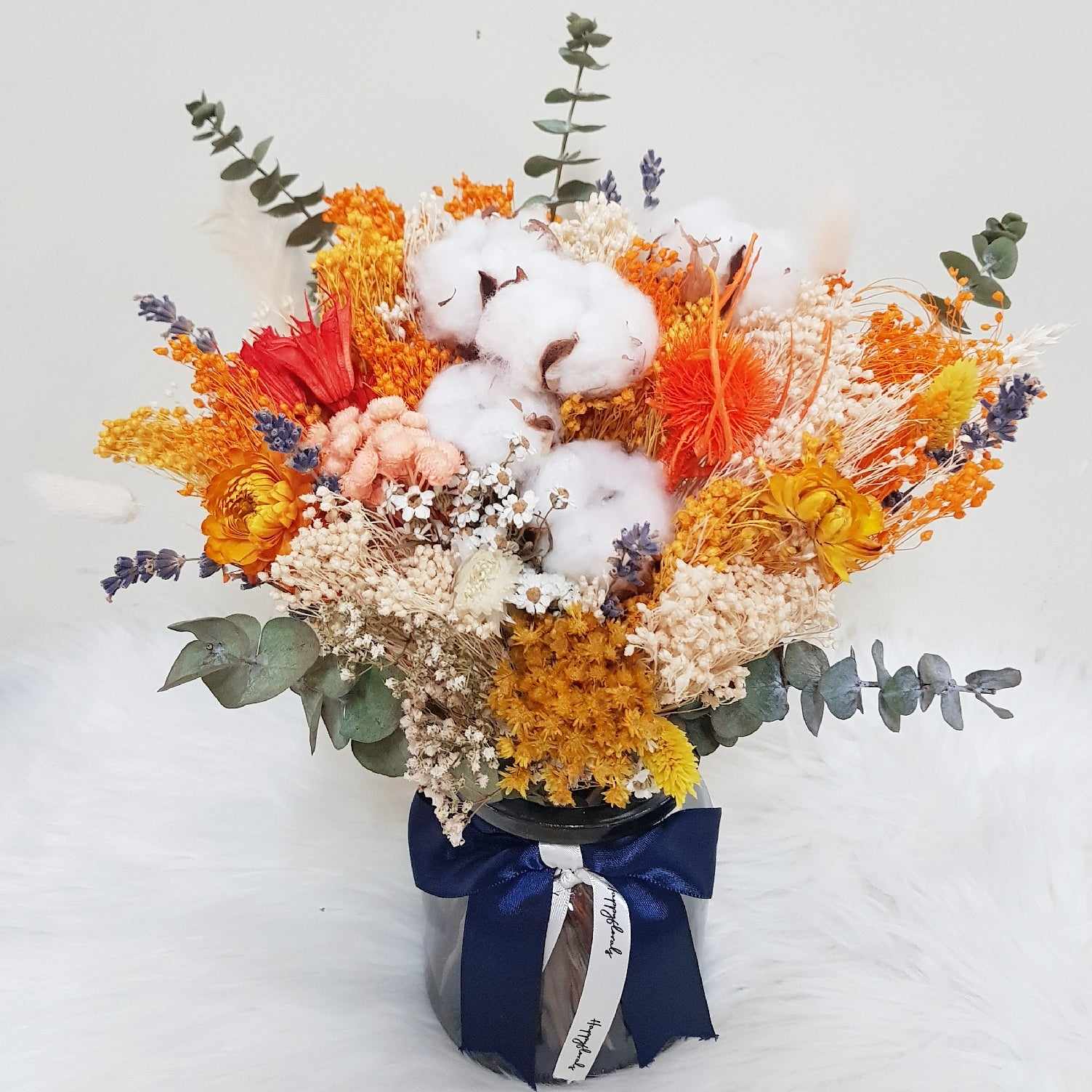 Everlasting Bloom Vase - Orange - Happy Florals