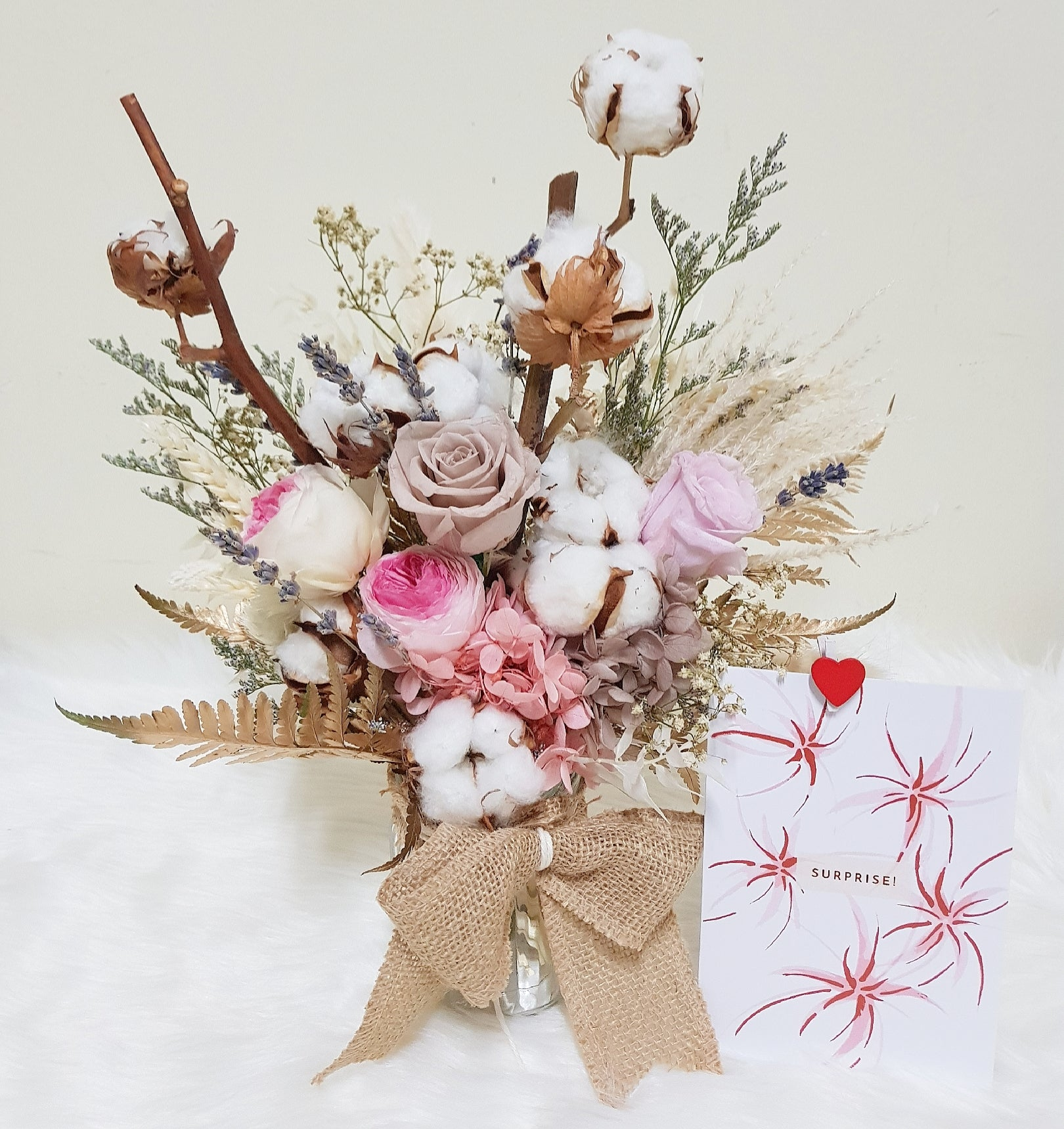Everlasting Rustic Bloom Vase - Happy Florals