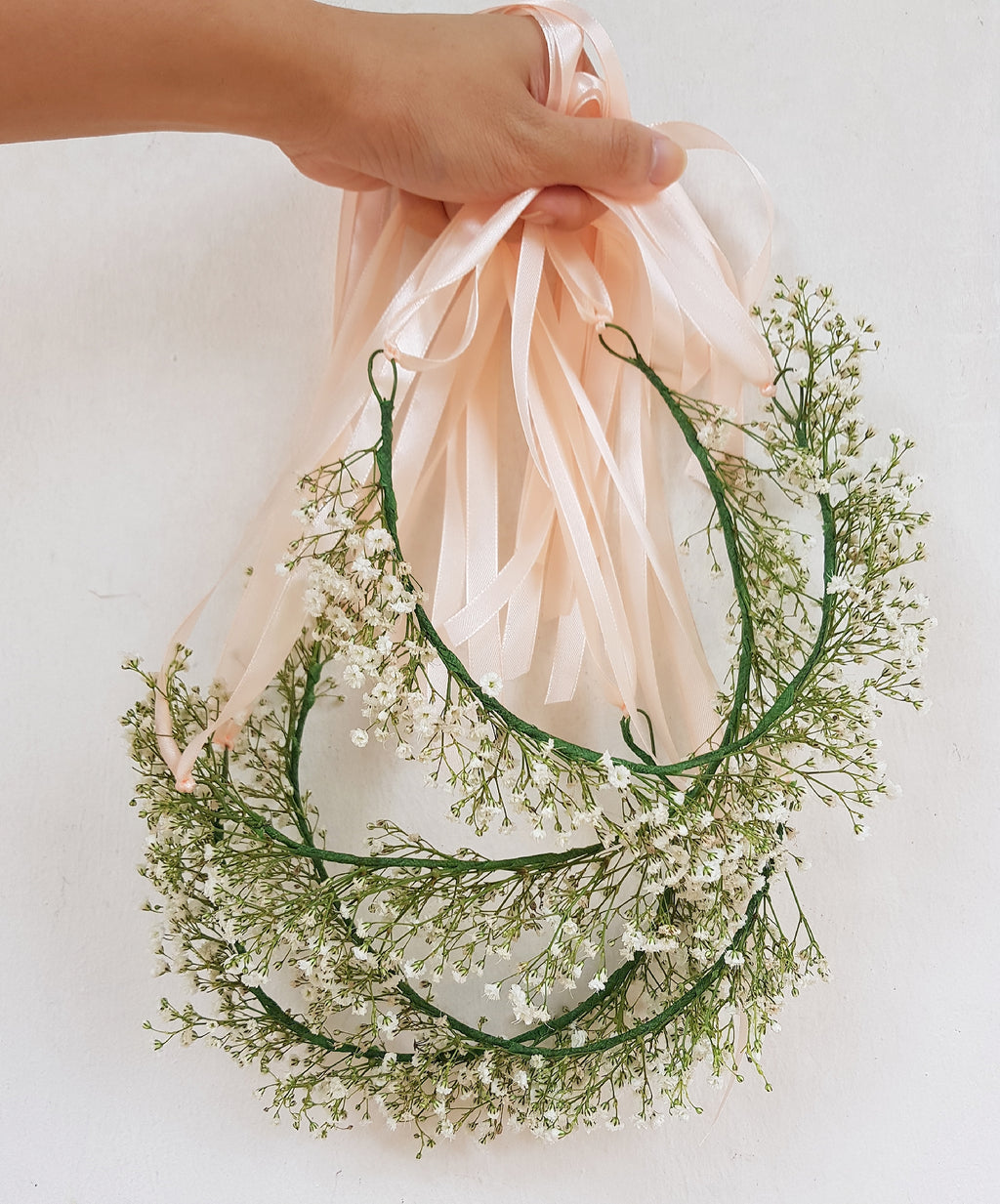 Baby's Breath Floral Crown - Happy Florals